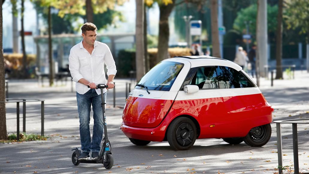 Micro Mobility Systems präsentiert seine E-Fahrzeuge der Mikromobilität.