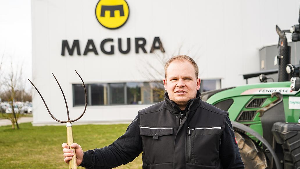 Maguras Hauptlieferant Tröster hatte im extrem trockenen Sommer 2018 Probleme mit dem Rohstoff Gras.