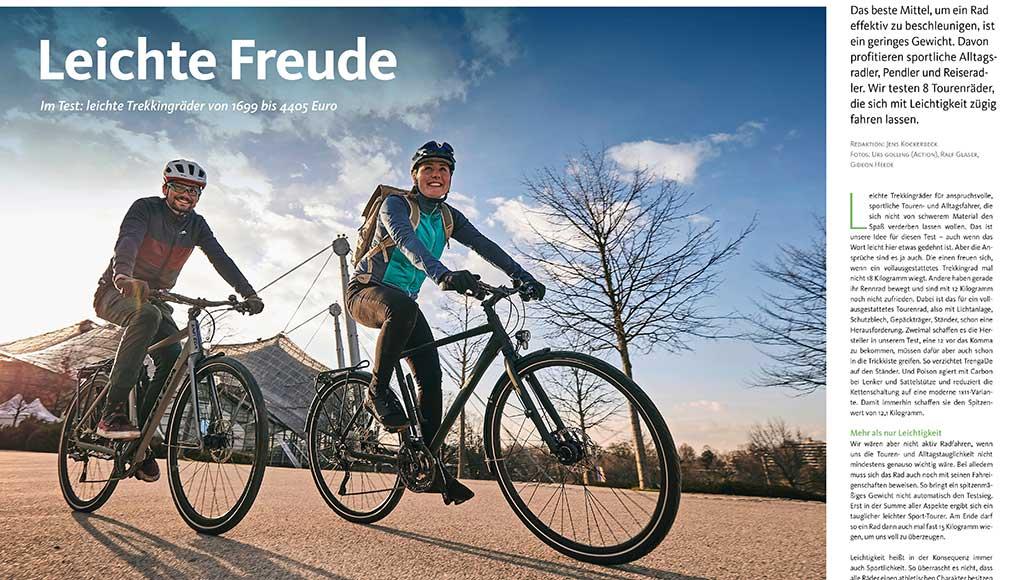 Test: Leichte Trekkingräder für Alltag und Ausflüge.
