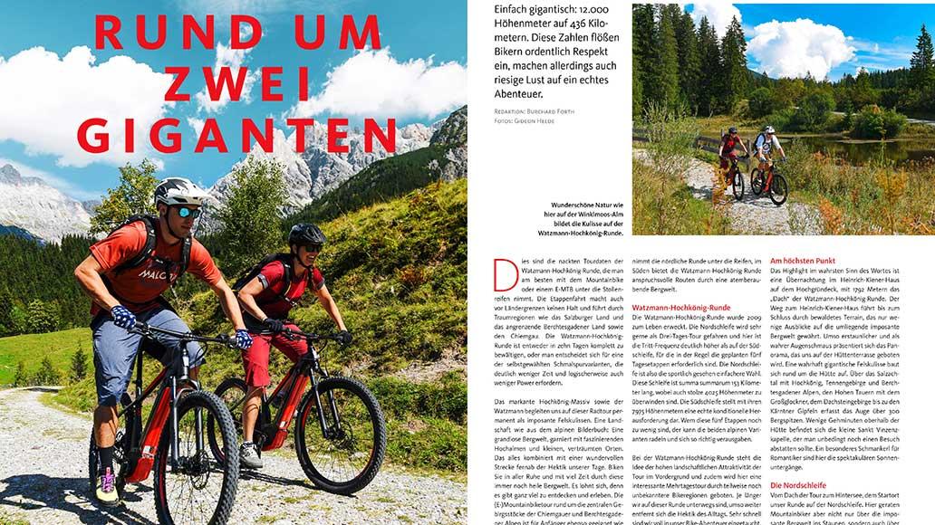 Watzmann und Hochkönig: Bei dieser Tour um zwei Giganten hat man die Alpen immer im Blick.