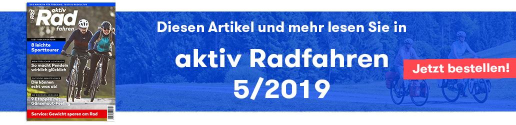 Shop, Banner, Ausgabe 5/2019, aktiv Radfahren 5/2019