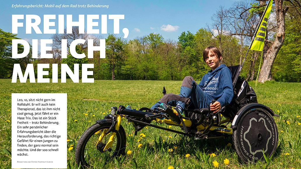 Reportage: Mobil trotz Behinderung, mit dem Hase Trix.
