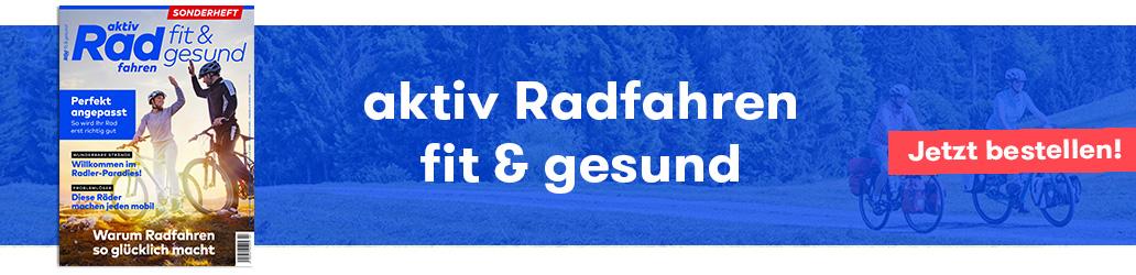 fit & gesund, aktiv Radfahren, Banner, Gesundheit