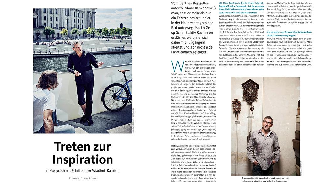 Im Interview: Der Schriftsteller Wladimir Kaminer übers Radfahren