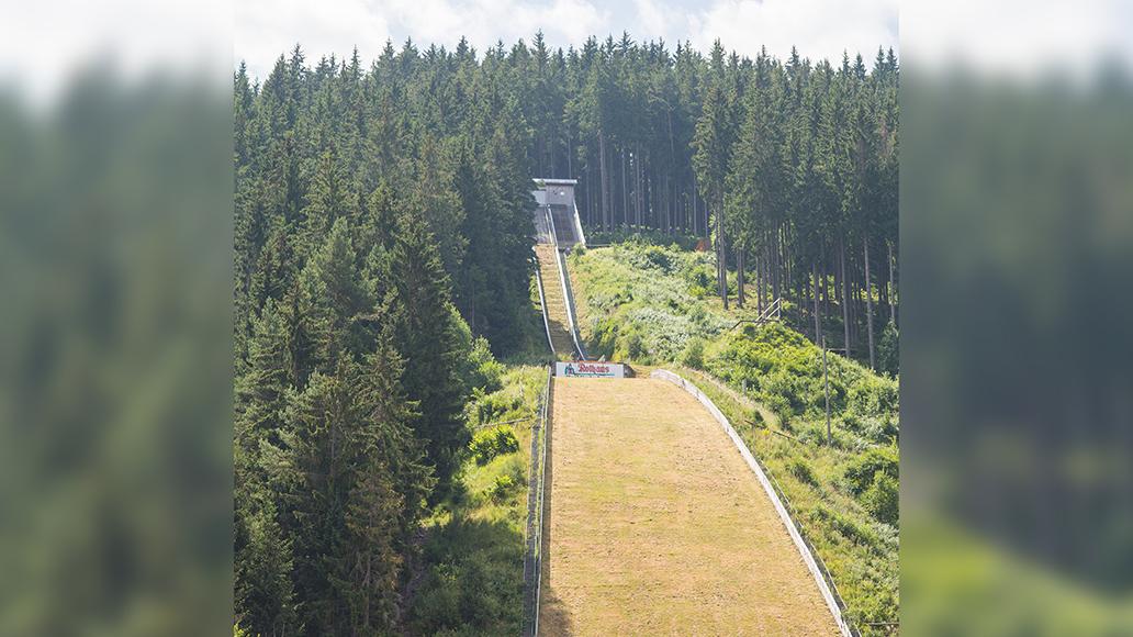 Start und Ziel des Trail Hype: Die Hochfirstschanze, Titisee-Neustadt