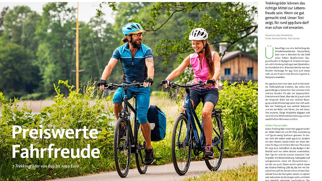 Test: Trekkingräder um 999 Euro