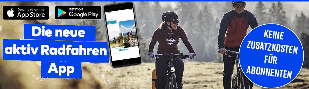 App, Banner, aktiv Radfahren