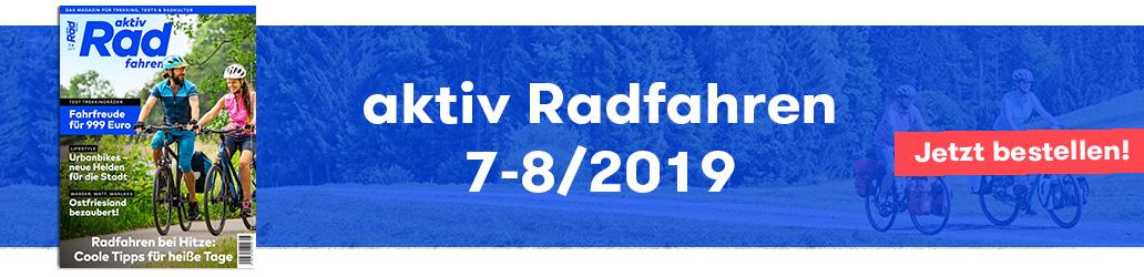 Banner, aktiv Radfahren 7-8/2019, Shop, Magazin