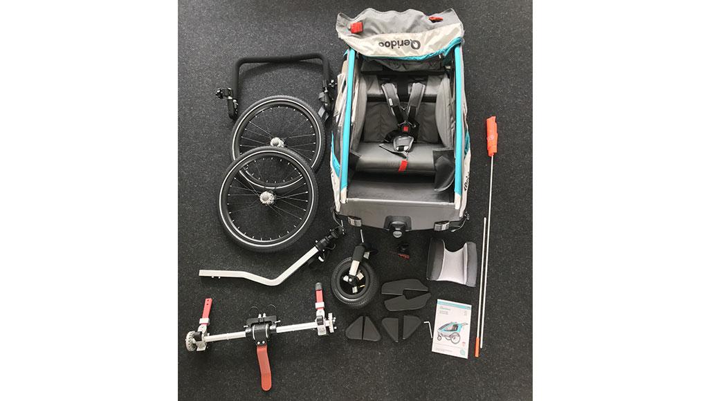 Qeridoo Sportrex 1, Test, Kinderanhänger