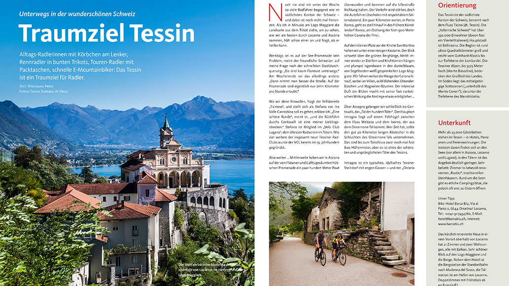 Reise: Radfahren im Tessin