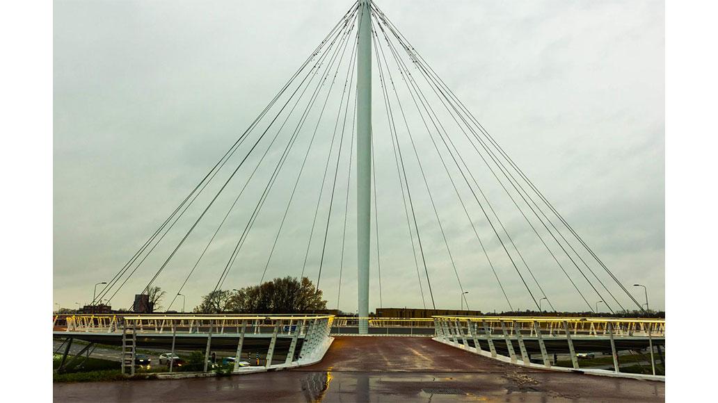 Fahrradstädte, Utrecht, Hovenring-Brücke