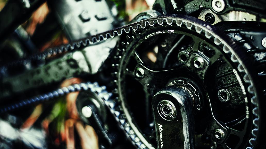 Gates-Riemen ist bei den Premium-Bikes von HNF-Nikolai Standard.