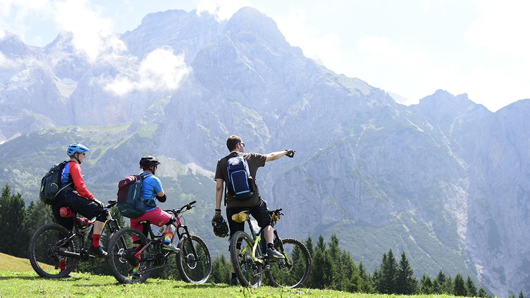 Herrlicher Ausblick: Die Brenta-Dolomiten.