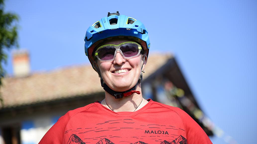 Organisatorin der Transalp: Isabel Weihermann (42).