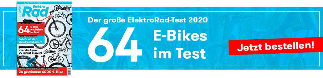 E-Bike-Test, ElektroRad 1/2020, Banner