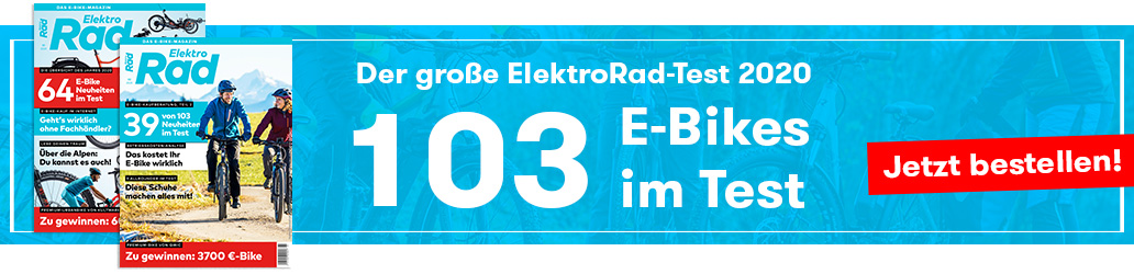 ElektroRad 2/2020, Banner, E-Bike-Test