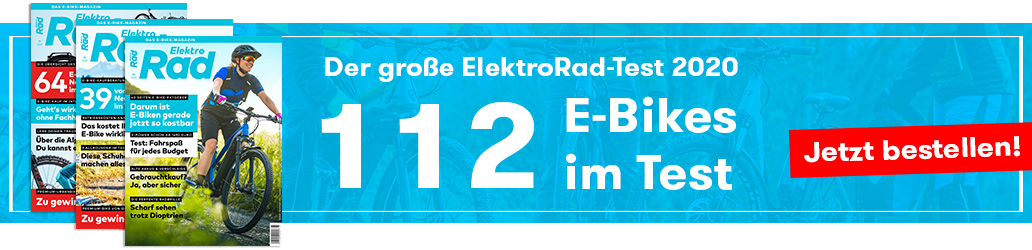 ElektroRad 3/2020, Heft, E-Bike-Test, ElektroRad-Test, Banner
