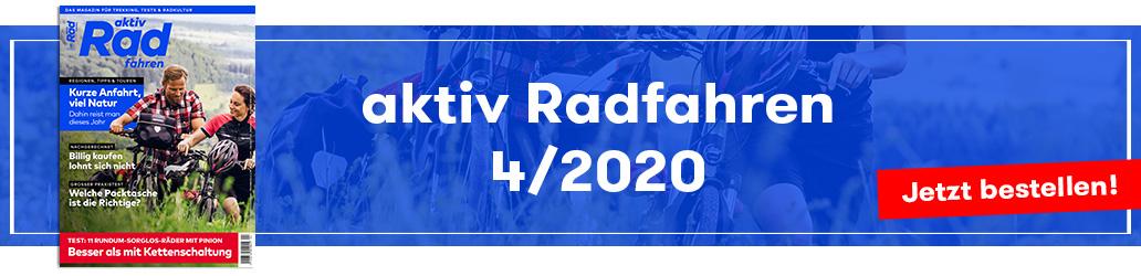 Banner, aktiv Radfahren 4/2020