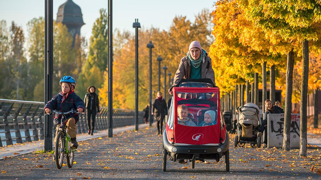 #MehrPlatzFürMenschen: Fahrradfahren in der Stadt.