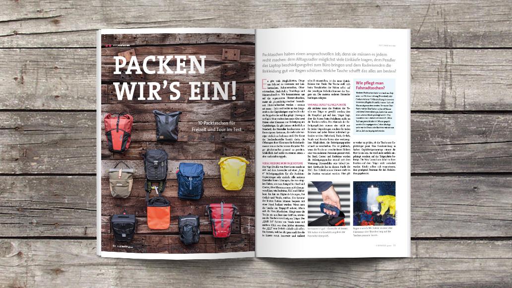 Packtaschen, ElektroRad, Heftinhalt