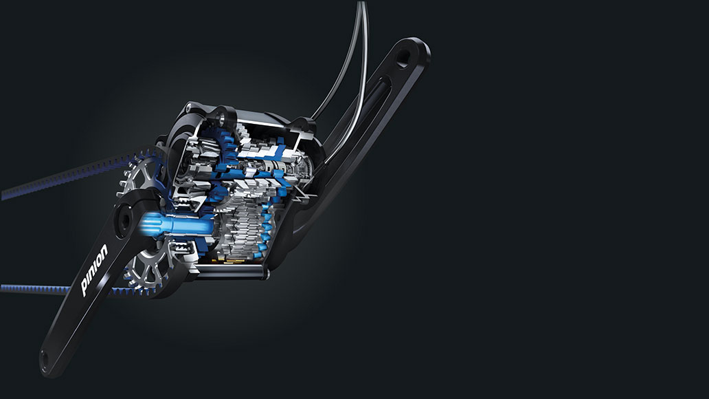 Pinion, Test, Pinion-Tretlagergetriebe