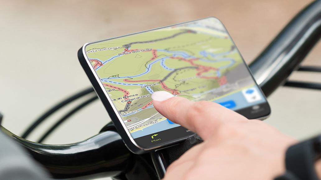 komoot, Navigation, Fahrradtour, Smartphone