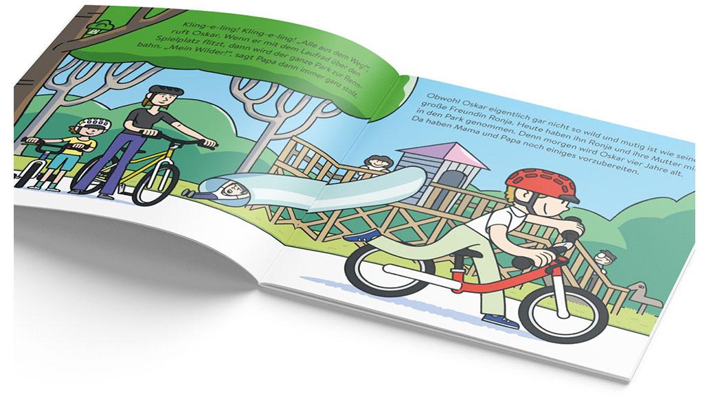 woom, Fahrrad, Kinderbuch
