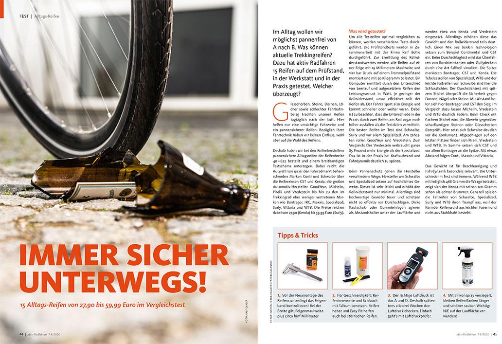 Alltagsreifen, Test, aktiv Radfahren 7-8/2020