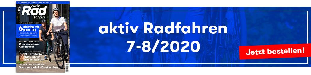 aktiv Radfahren 7-8/2020, Heftinhalt, Banner
