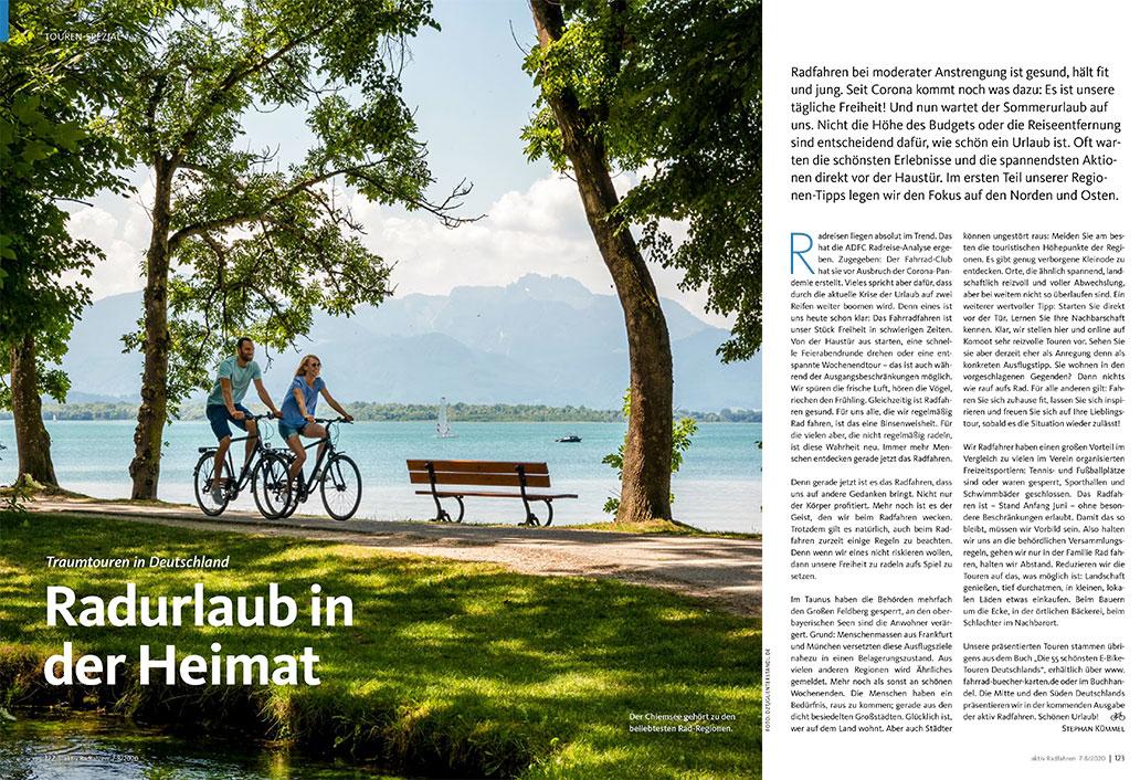 Radurlaub in der Heimat, aktiv Radfahren 7-8/2020
