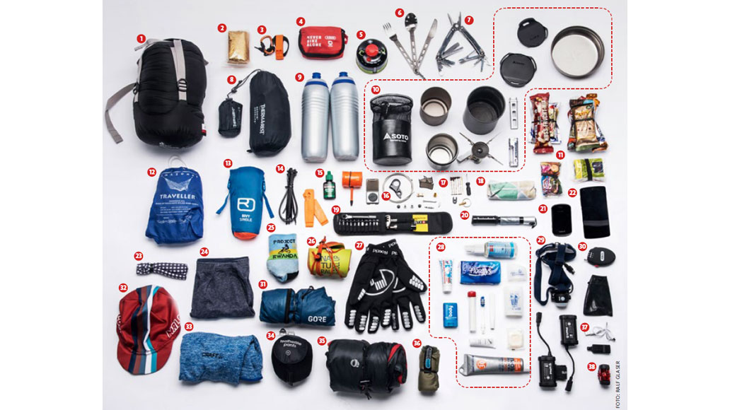 Packliste, Bikepacking