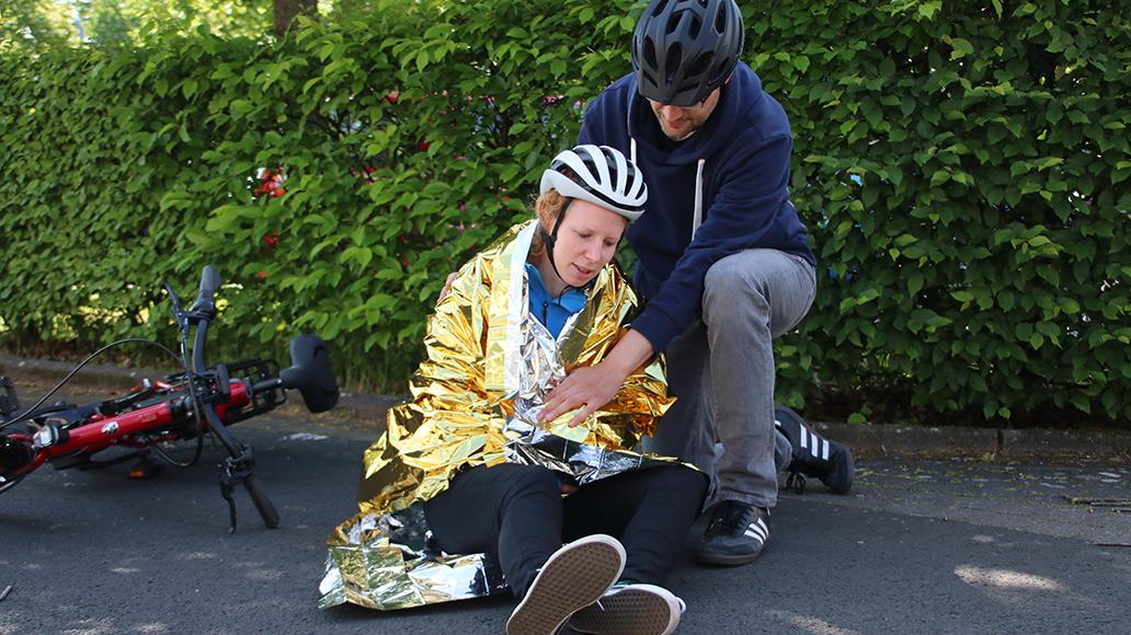 Erste Hilfe, Rotes Kreuz, Radfahren