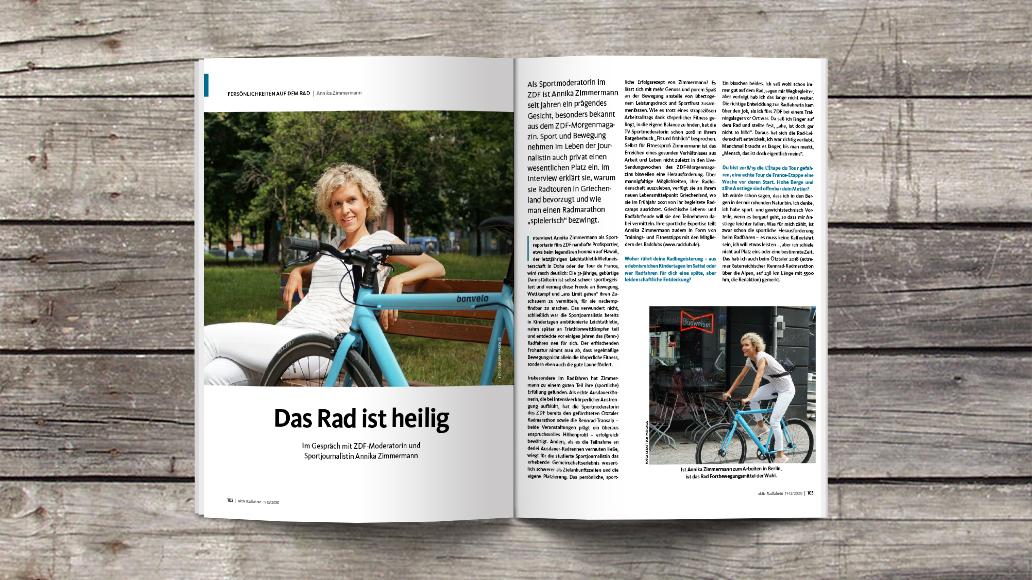 Annika Zimmermann: Radfahren ist mir heilig
