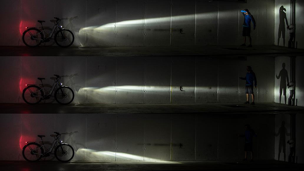 Radfahren, Beleuchtung, Dunkelheit, E-Bike, Scheinwerfer