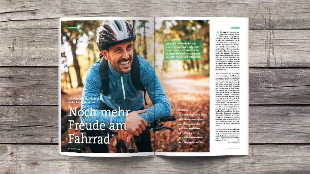 (E-)Biken und Umweltschutz passen gut zusammen.