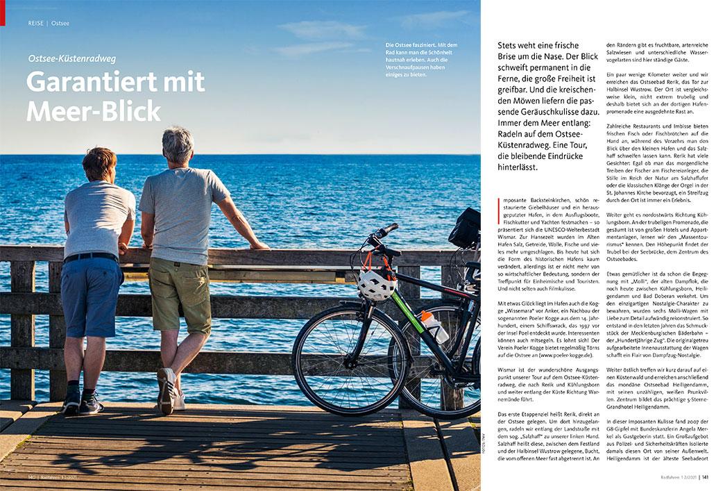 Radfahren 1-2/2021, Ostsee-Küstenradweg