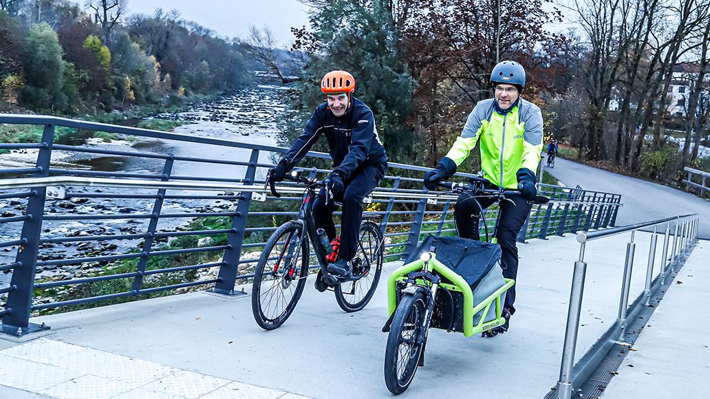 Radfahren, Elektrorad, E-Bike, Winter, Interview, Dialog