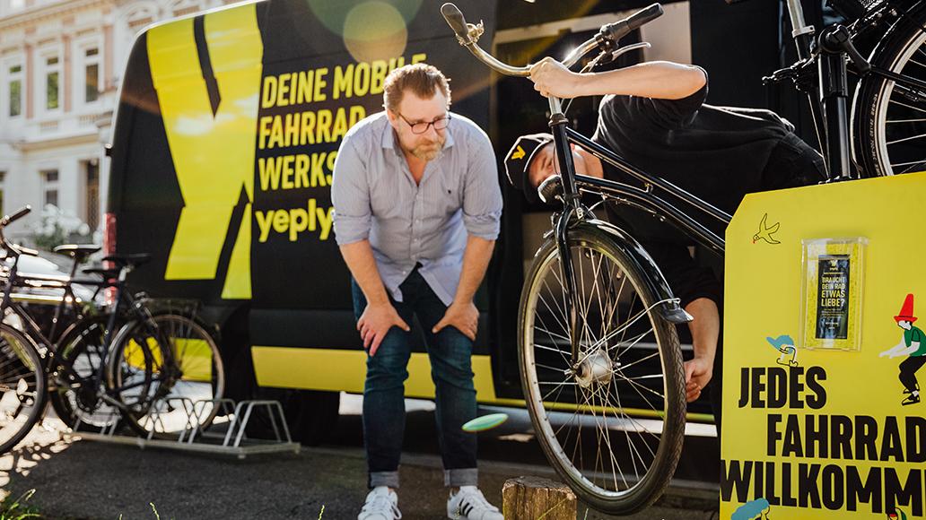 Yeply, mobile Fahrradwerkstatt, Radfahren, E-Bike