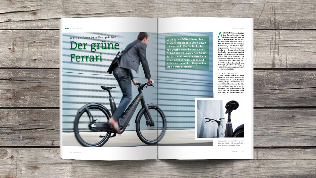 Sauber: Solar-E-Bike aus Südtirol