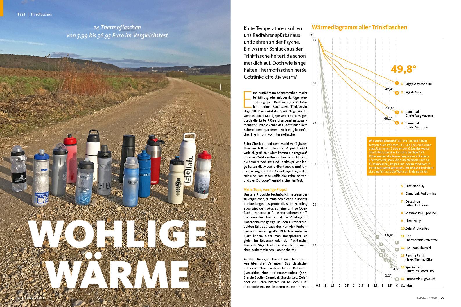 So lange bleibt's heiß: Thermo-Trinkflaschen im Test