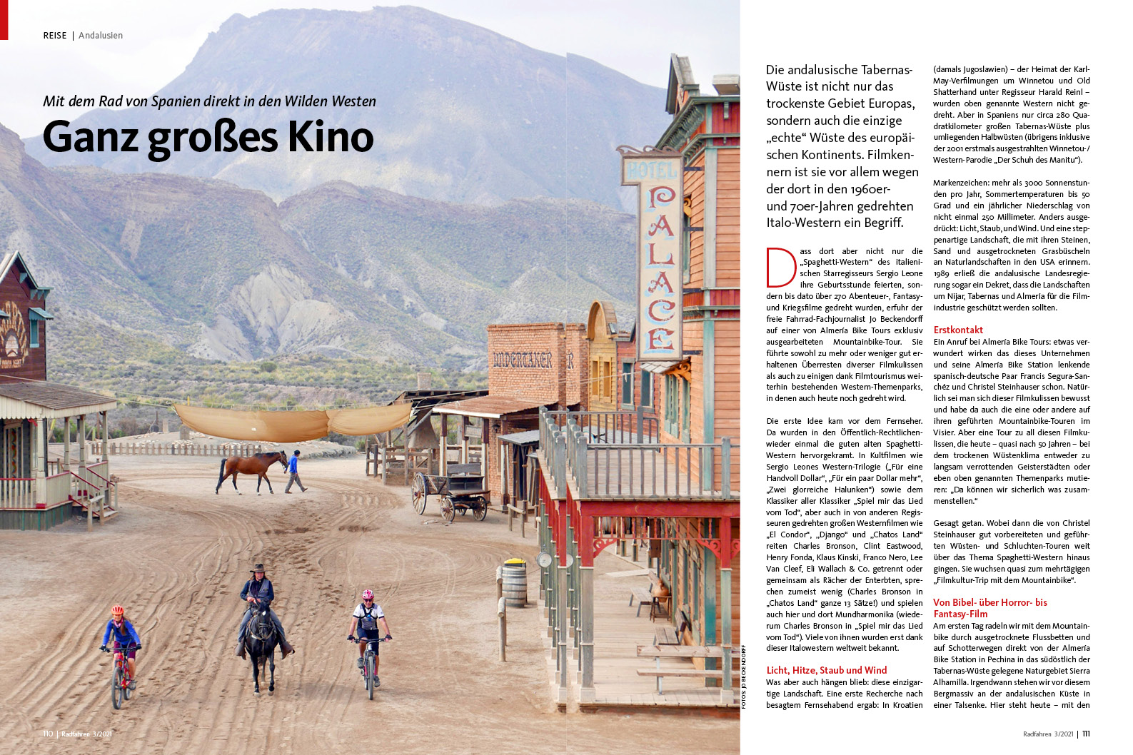 Biken statt Reiten in Andalusien