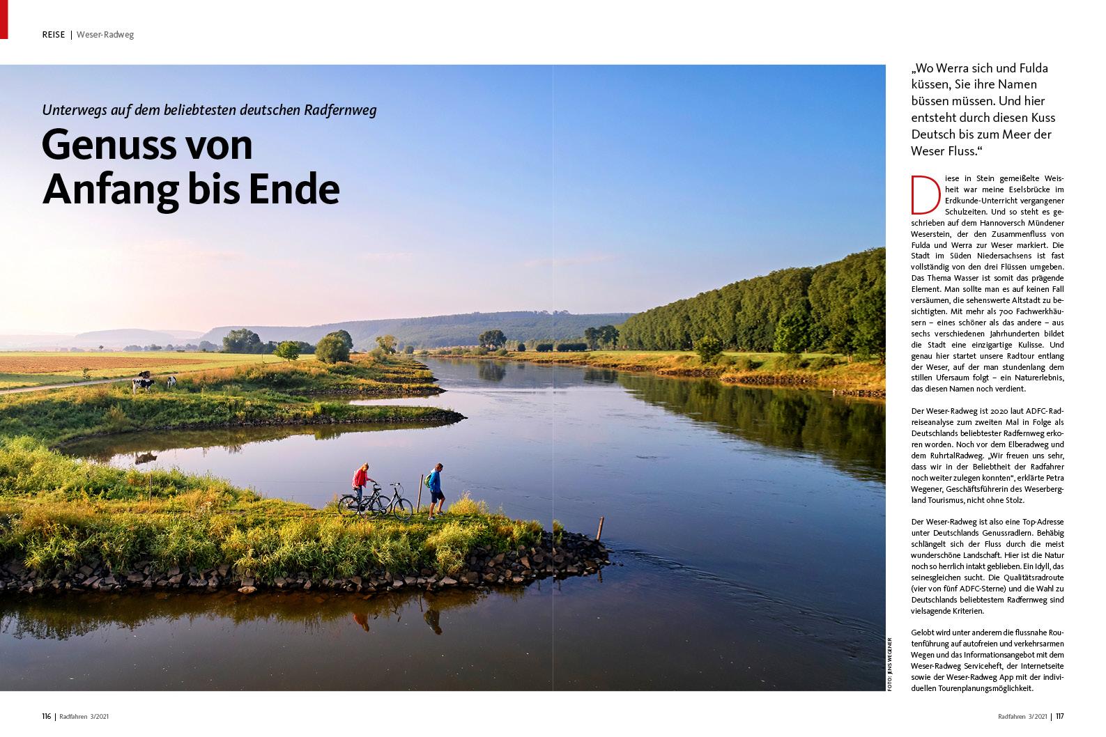 ...bis zum Meer: Der Weser-Radweg