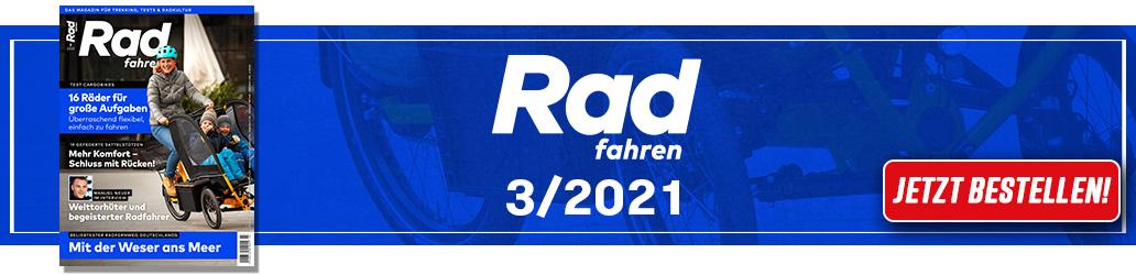 Radfahren 3/2021, Banner