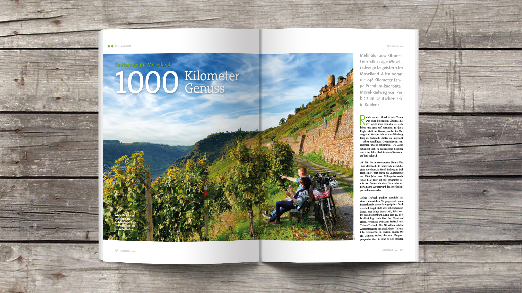 1000 Kilometer Genuss: Radfahren im Moselland