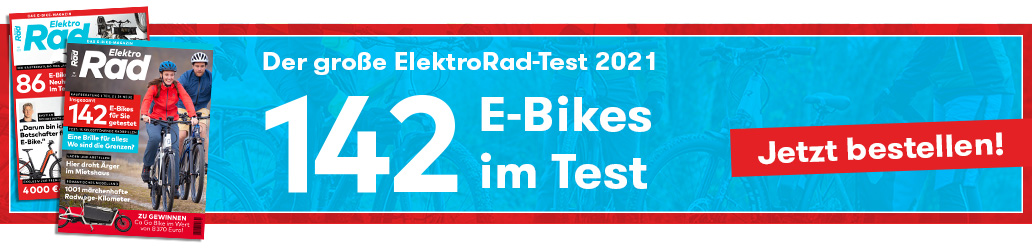 E-Bike Test, Banner, ElektroRad 1/2021, ElektroRad 2/2021