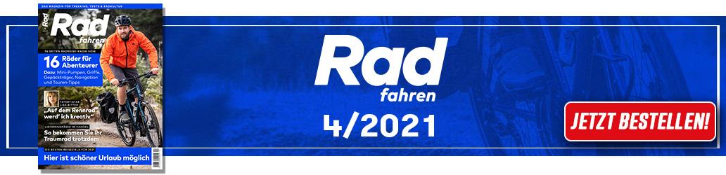 Radfahren 4/2021, Banner