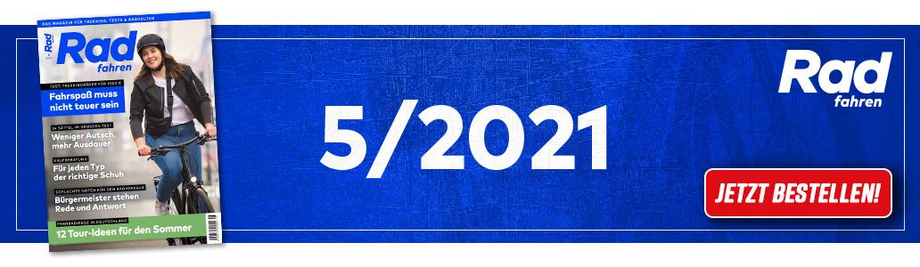 Radfahren 5/2021, Banner