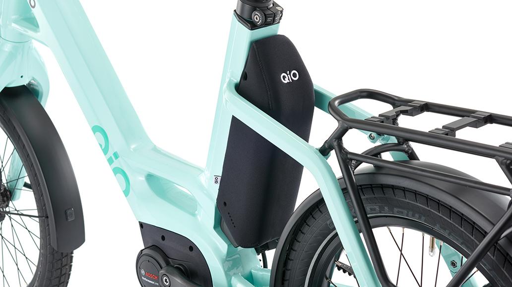 Für den QiO-Transport: Neopren-Akkuschutz