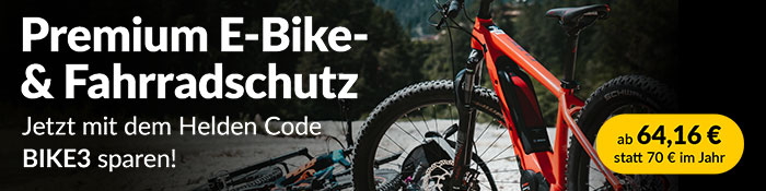 Helden, Versicherungen, Fahrrad, E-Bike, Promotion