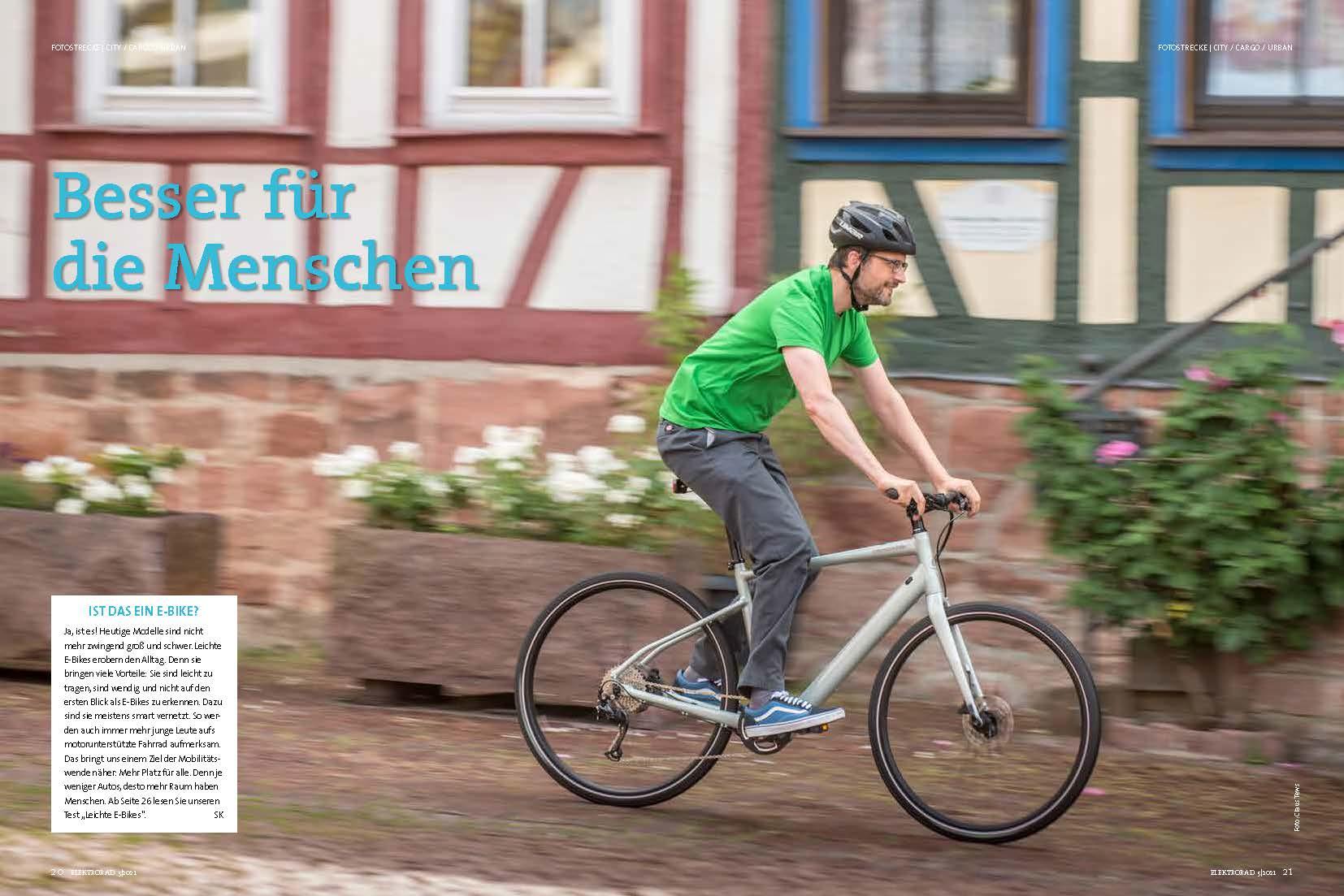 Leichte E-Bikes für den Alltag